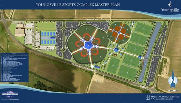Rendering of Youngsville Sports Complex