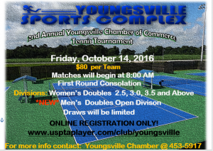 2nd Annual Youngsville Chamber Tennis Tournament @ Youngsville Sports Complex | Youngsville | Louisiana | United States