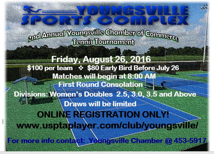 2nd Annual Youngsville Chamber Tennis Tournament