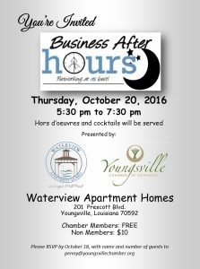 Business After Hours - Waterview Apartment Homes @ Waterview Apartment Homes | Youngsville | Louisiana | United States