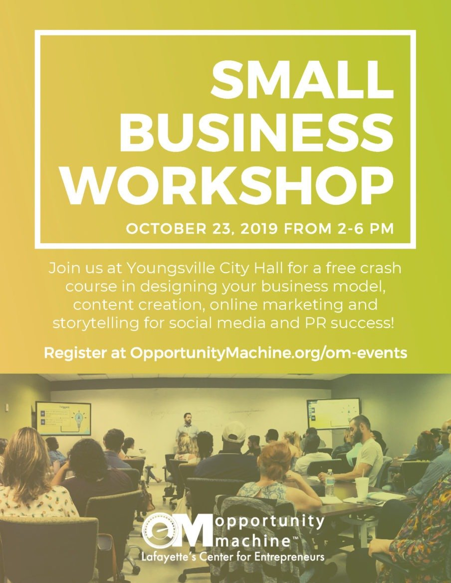 Small Business Workshop @ Youngsville City Hall | Youngsville | Louisiana | United States